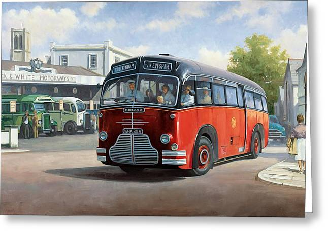 Midland Red C1 Coach. Greeting Card by Mike  Jeffries