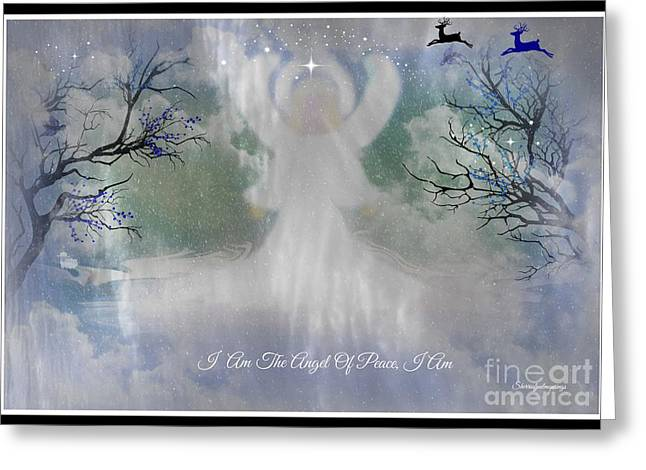 Midnight Angel Of Peace Greeting Card by Sherri's Of Palm Springs
