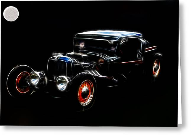 Midnight Auto Model A Pickup Greeting Card