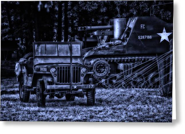 Midnight Battle And All Is Quite On The Front Lines Greeting Card by Thomas Woolworth