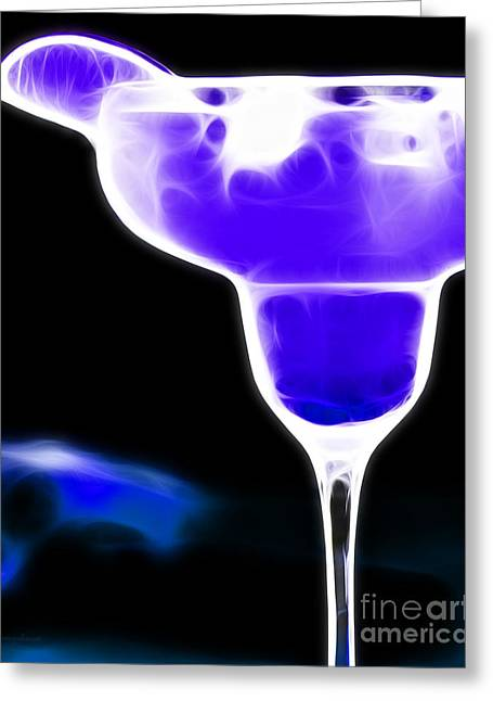 Midnight Blue Margarita Breeze Greeting Card by Wingsdomain Art and Photography
