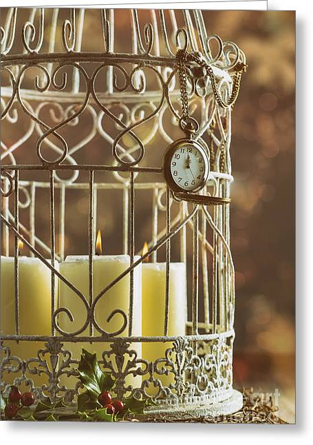 Midnight Candles Greeting Card by Amanda Elwell