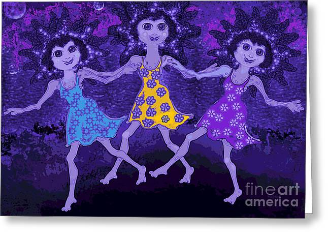 Midnight Dance Greeting Card
