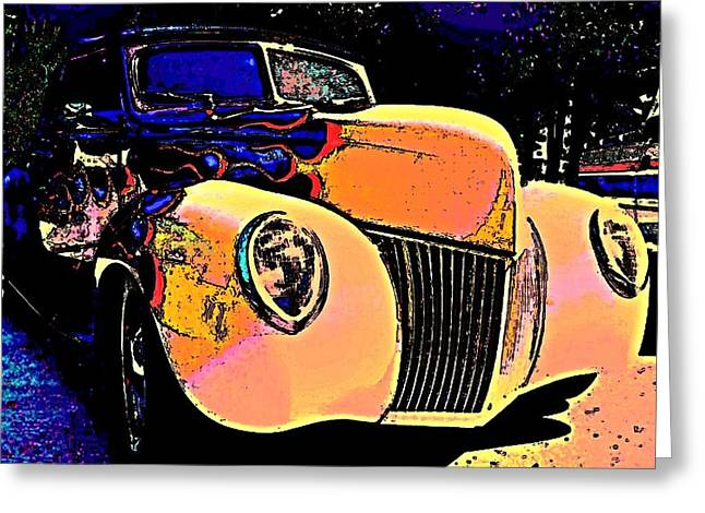 Midnight Driver Greeting Card