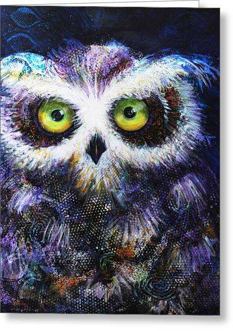 Midnight Hoot Greeting Card