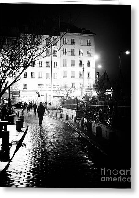 Midnight In Paris Greeting Card by John Rizzuto