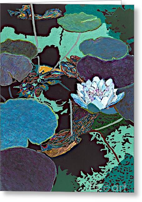 Midnight Moonglow Greeting Card by Allan P Friedlander