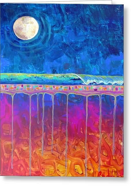 Midnight Run Greeting Card by Dawn Gray Moraga