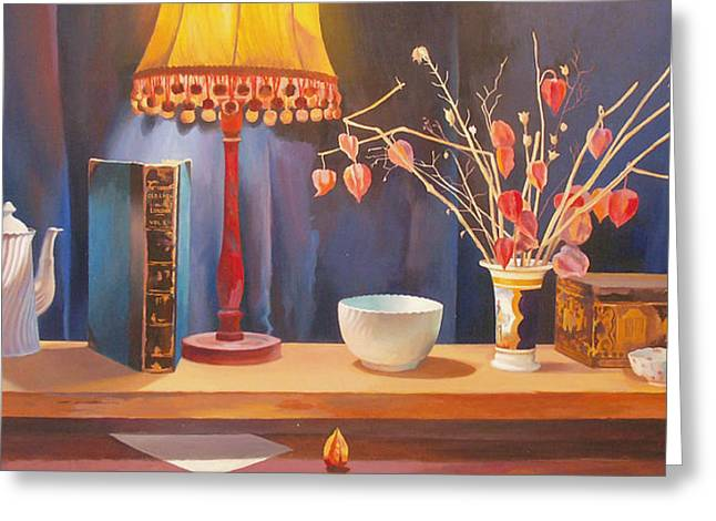 Midnight  Still Life Greeting Card by Terry Scales