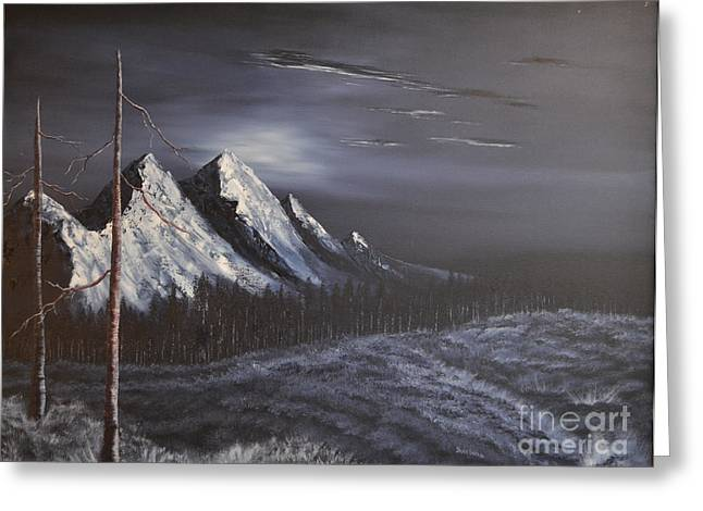Greeting Card featuring the painting Midnight by Stuart Engel