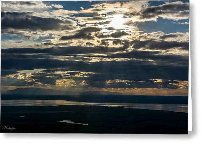 Midnight Sun Over Mount Susitna Greeting Card