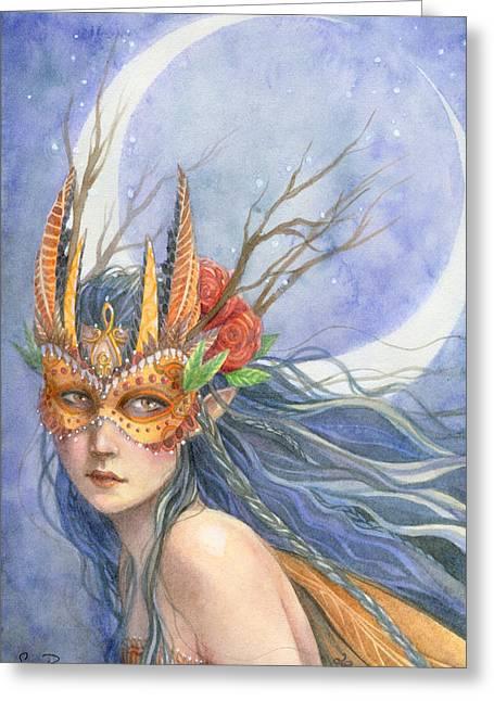 Midnight Warrior Greeting Card by Sara Burrier