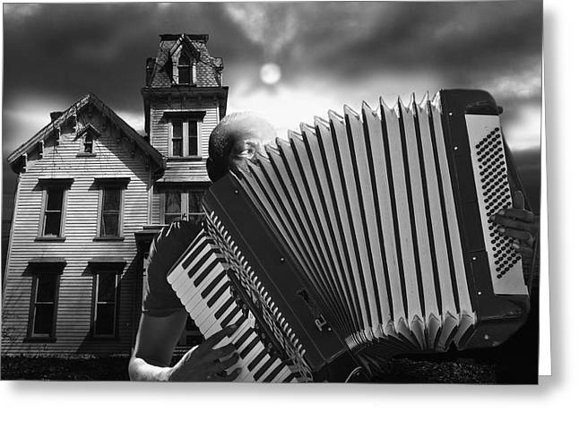 Zydeco Blues Greeting Card by Larry Butterworth