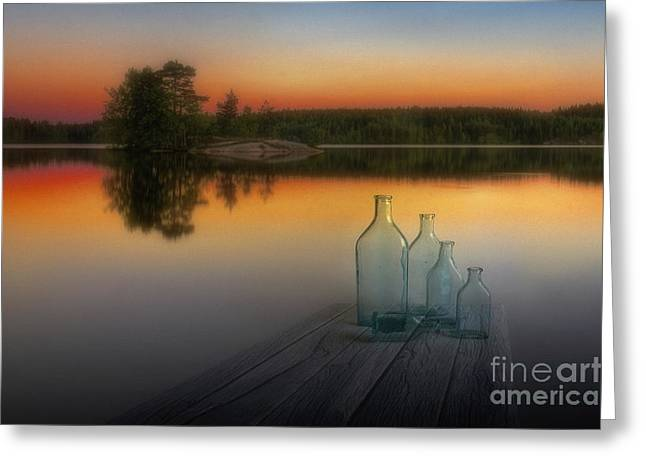 Bottles Digital Greeting Cards - Midsummer magic Greeting Card by Veikko Suikkanen