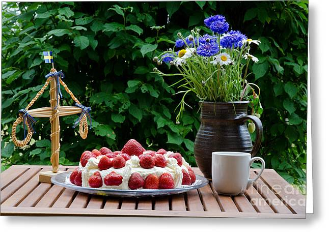 Midsummer Table Greeting Card