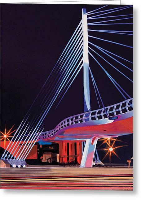 Midtown Greenway Sabo Bridge Greeting Card