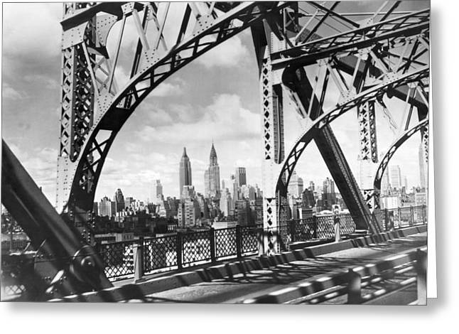 Midtown Manhattan 1937 View Greeting Card by Underwood Archives