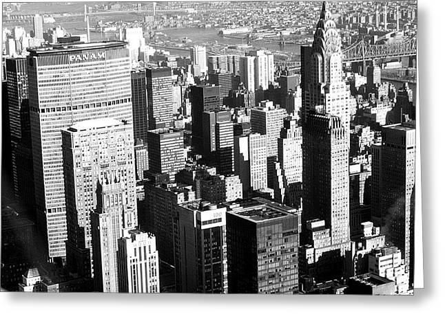 Midtown Manhattan 1972 Greeting Card