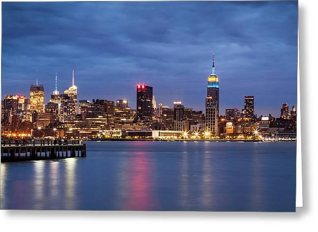 Greeting Card featuring the photograph Midtown Manhattan by Mihai Andritoiu