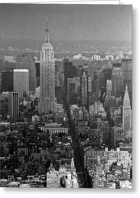 Midtown Manhattan Winter 1980s Greeting Card