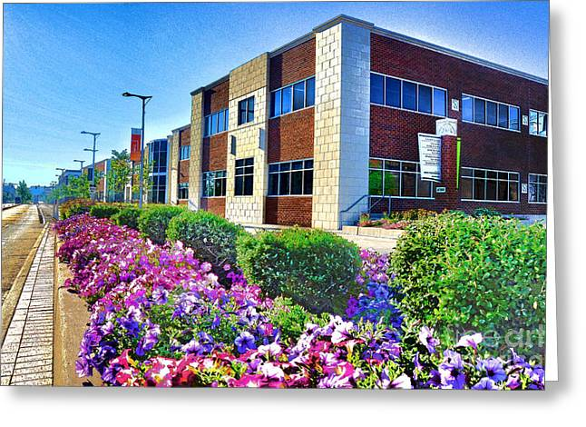 Greeting Card featuring the photograph Geis Midtown Tech Park - Cleveland Ohio by Mark Madere