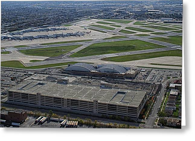 Midway Airport Chicago Airplanes 02 Greeting Card