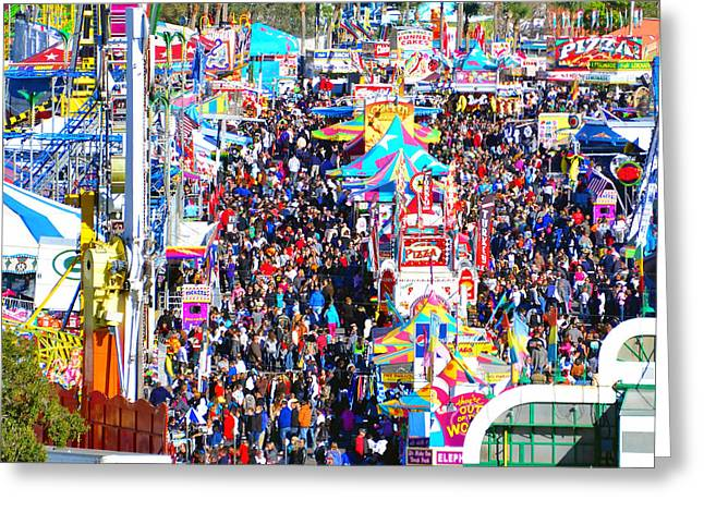 Midway Crowd Greeting Card by David Lee Thompson