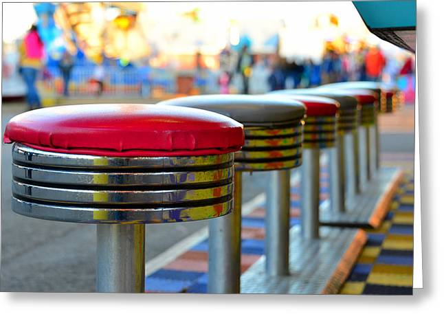 Midway Line Up Greeting Card by David Lee Thompson