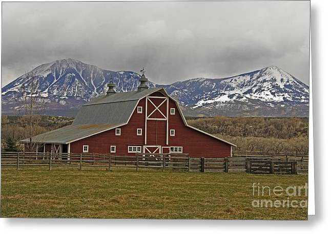 Midway Ranch Barn Greeting Card