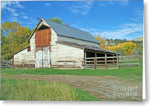 Midway Vintage Barn Hotchkiss Co Greeting Card