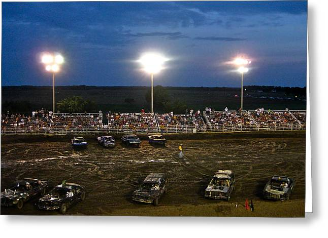 Midwest Demo Derby Greeting Card