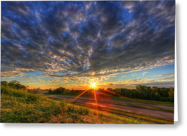 Midwest Sunset After A Storm Greeting Card