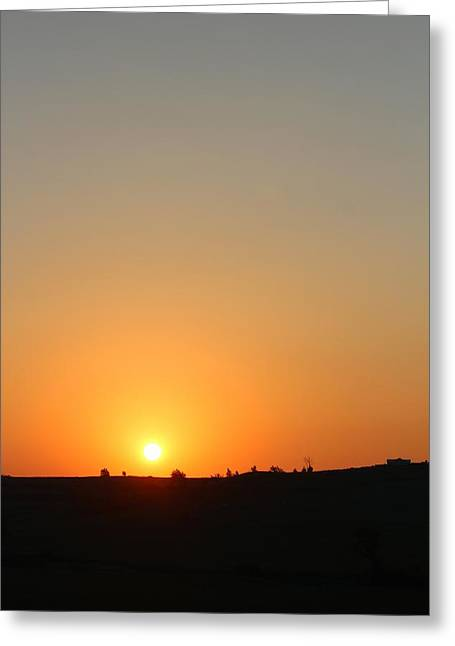 Midwest Sunset Greeting Card by Angie Phillips aka Angieclementine