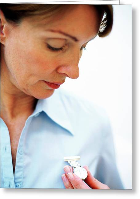 Midwife Greeting Card by Ian Hooton/science Photo Library