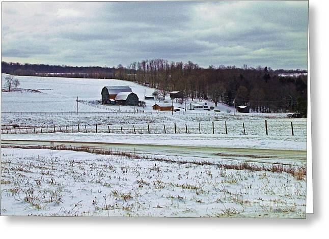 Midwinter On The Farm Greeting Card