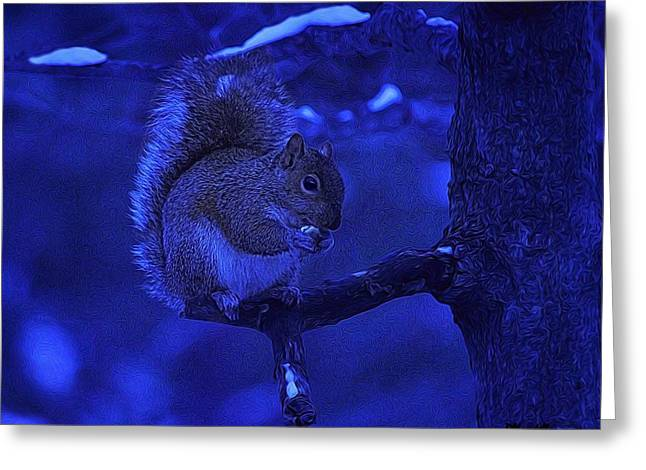 Midwinter Snack Greeting Card by Dennis Lundell