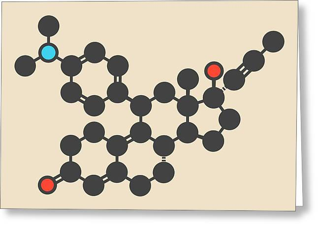 Mifepristone Molecule Greeting Card