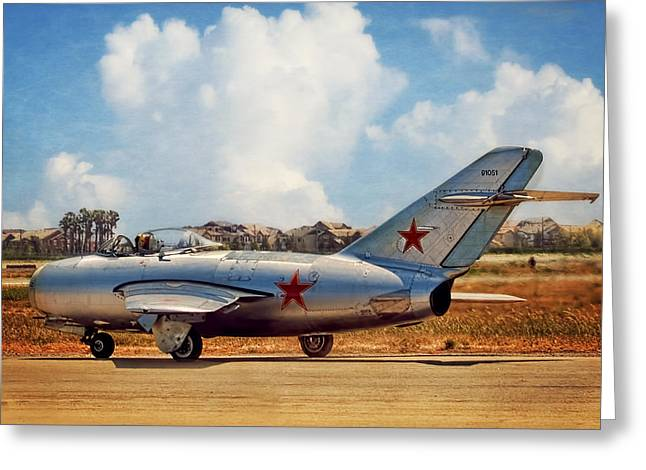 Mig-15 Greeting Card by Steve Benefiel