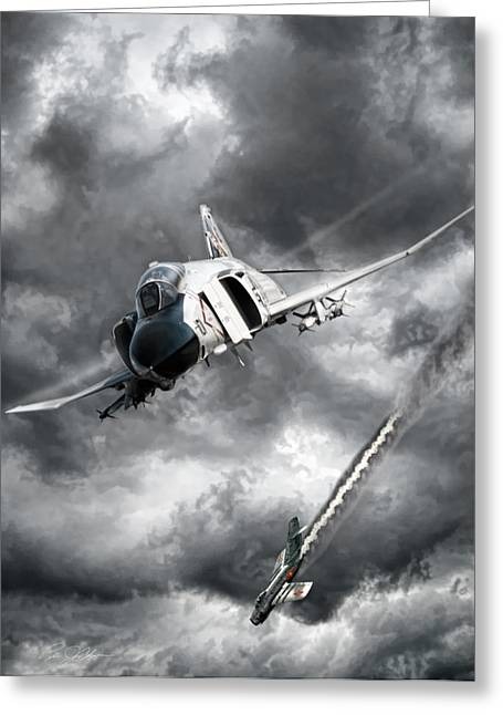 Mig Killer Greeting Card by Peter Chilelli