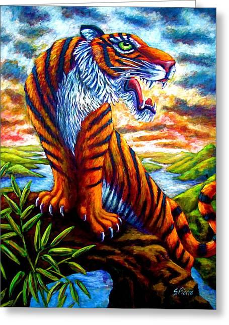 Mighty Tigress Greeting Card