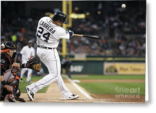 Miguel Cabrera Greeting Card by Marvin Blaine