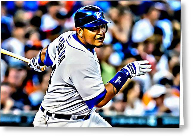 Miguel Cabrera Painting Greeting Card by Florian Rodarte