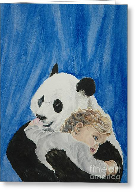 Mika And Panda Greeting Card