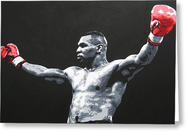 Mike Tyson 1 Greeting Card