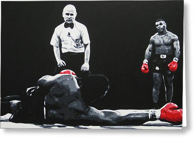 Mike Tyson 3 Greeting Card by Geo Thomson