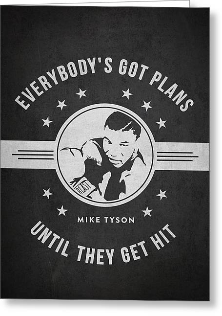 Mike Tyson - Dark Greeting Card by Aged Pixel