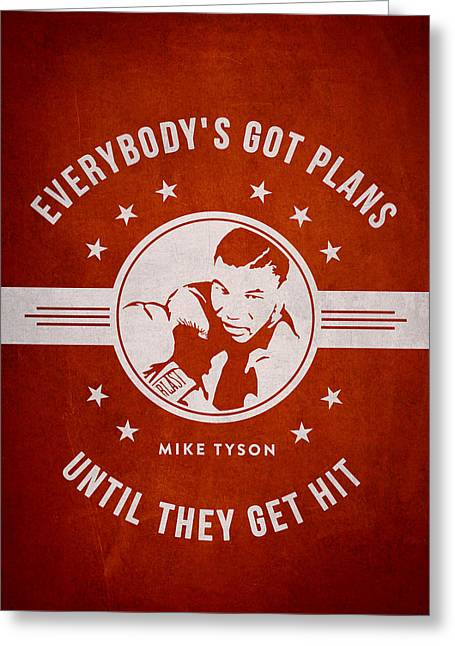 Mike Tyson - Red Greeting Card