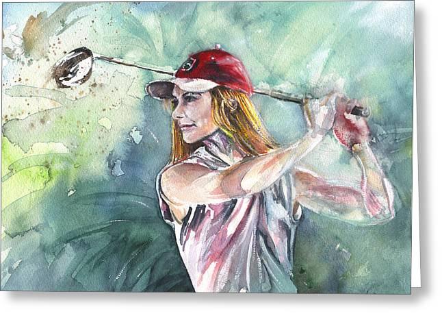 Miki Self Portrait Golfing Greeting Card
