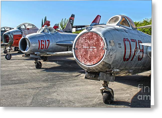 Mikoyan-gurevich Fagot Mig-15uti Greeting Card by Gregory Dyer