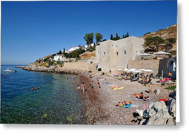 Mikro Kamini Beach Greeting Card by George Atsametakis